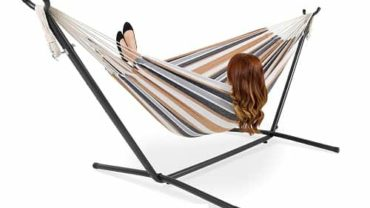 Best Choice Products Portable Indoor Outdoor 2-Person Cotton Double Hammock