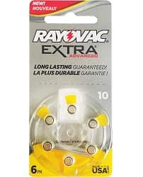 Rayovac Extra Advanced, size 10 Hearing Aid Battery
