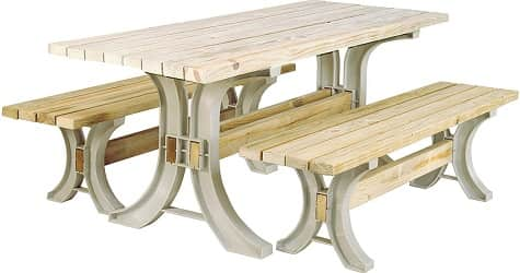 2x4basics 90182ONLMI Custom Picnic Table Kit