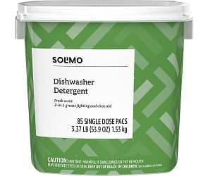 Amazon Brand - Solimo Dishwasher Detergent Pacs