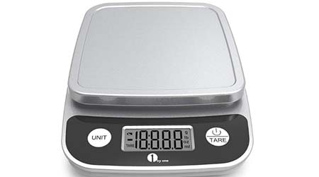 1byone Digital Kitchen Scale Precise Cooking Scale and Baking Scale