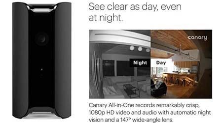 CANARY (CAN100USBK) All-in-One Indoor 1080p HD Security Camera