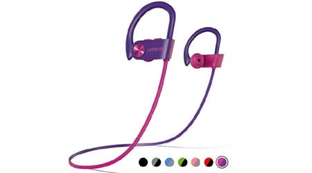 LETSCOM Bluetooth Headphones IPX7 Waterproof